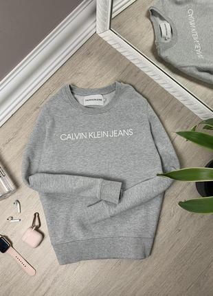 Calvin klein кельвин кляйн оригинал женская кофта свитшот толстовка лонгслив оригинал серая