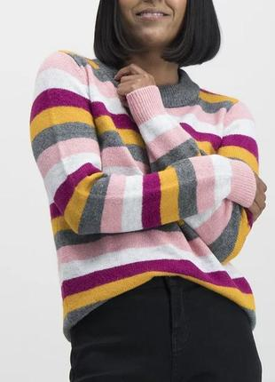 saleстильный мягкий свитер оверсайз в полоску радуга tu