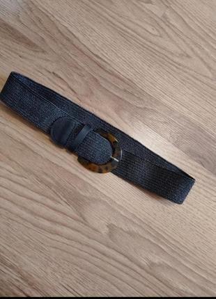 Плетеный пояс бохо резинка тренд3 фото
