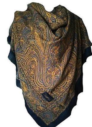 Yves saint laurent роскошный большой платок шерсть/шёлк