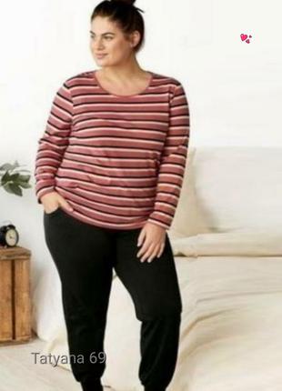 Комплект esmara домашний,пижама,реглан и штаны,большой размер