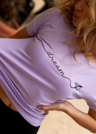Женская футболка с надписью1 фото