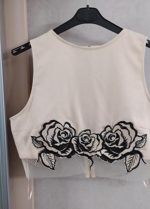 Missguided стильный топ блуза с молнией на спинке