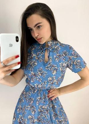 Платье с цветочным принтом (2 расцветки)2 фото