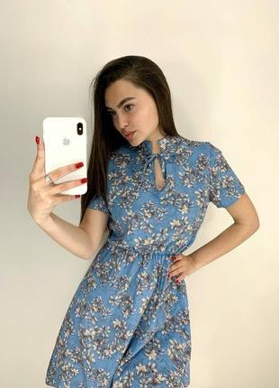 Платье с цветочным принтом (2 расцветки)1 фото
