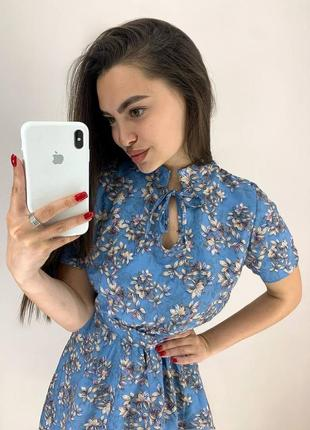 Платье с цветочным принтом (2 расцветки)3 фото