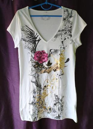 Chicoree стильная хлопковая футболка, р.s