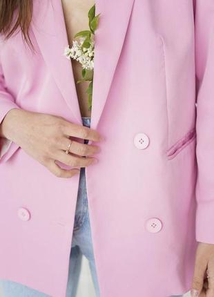 Пиджак оверсайз розовый