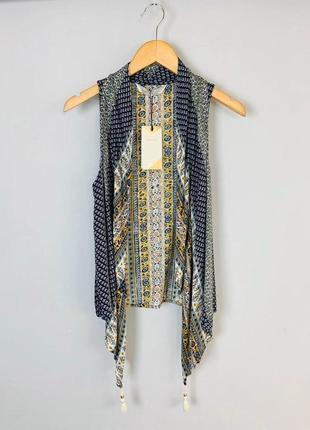 Sale стиль бохо легкая летняя накидка жилетка с кистями bershka