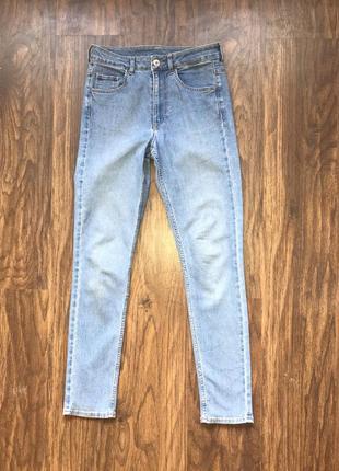 Скинни джинсы светло-голубые летние от h&m размер 29 (s) high waist