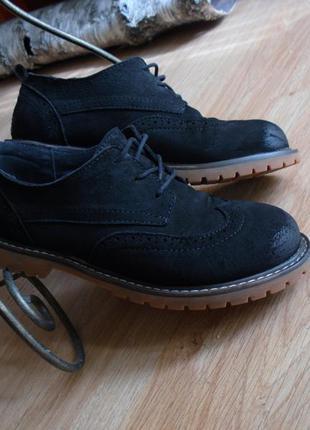 Туфли - натуральная замша