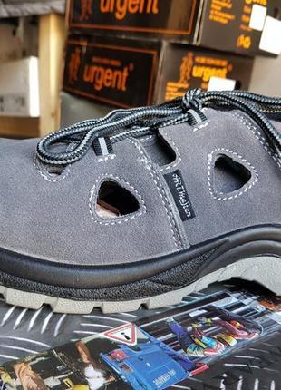 Летняя рабочая спецобувь с метал носком, спецобувь, рабочая обувь, сандалии с мет носком