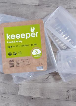 Большой набор 8 шт контейнеров для шкафа keeeper