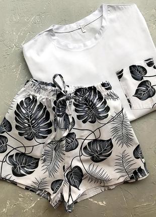 Женская пижама. популярні  принти2 фото