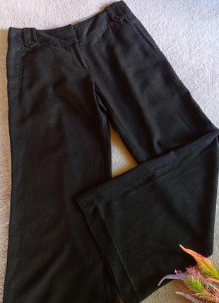 Натуральные широкие брюки клёш лён