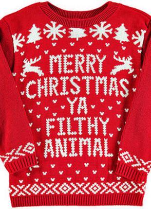 Новогодний свитер рождественский с оленями