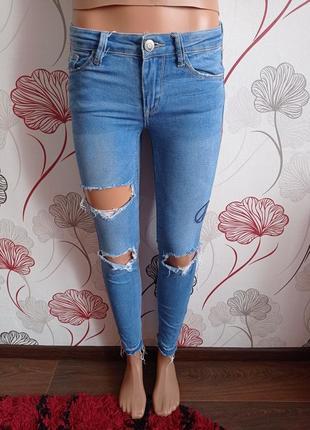Скинни,джинсы с лампасами