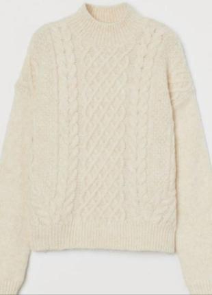 Свитер крупной вязки, свитер оверсайз от h&m