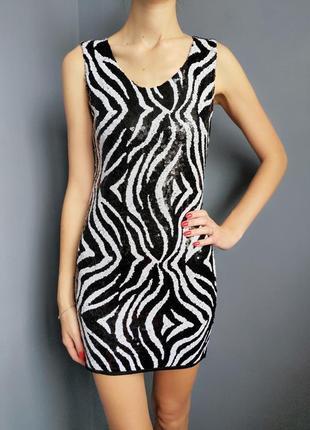 Вечернее шикарное платье расшитое паетками италия размер хс-с