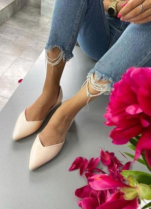 Мтильные женские летние босоножки туфли без каблука, беж