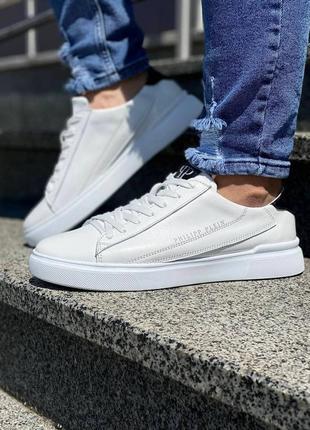 Кожаные туфли кеды philipp plein