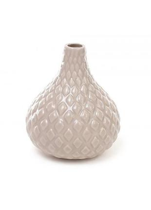 Керамическая ваза 12 см - бежевый