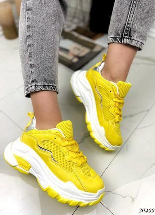 Жовті кросівки4 фото