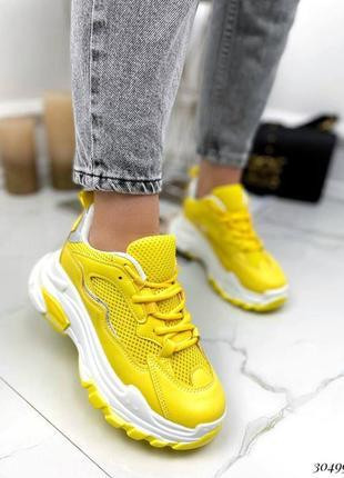 Жовті кросівки8 фото
