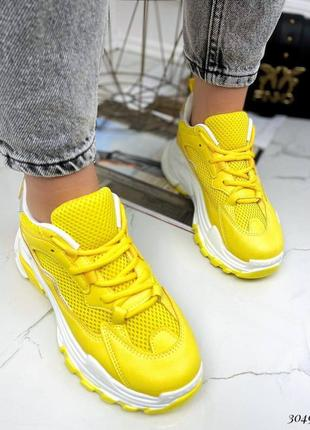 Жовті кросівки2 фото