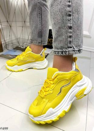 Жовті кросівки1 фото