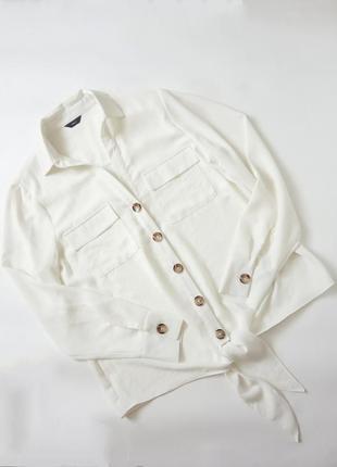 Белая рубашка блуза на завязках