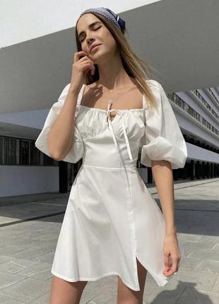 Платье прованс белого цвета размер с