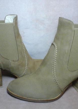 Сапоги челси нубук ботинки