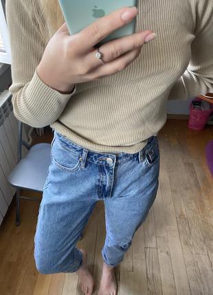 Базовые mom джинсы