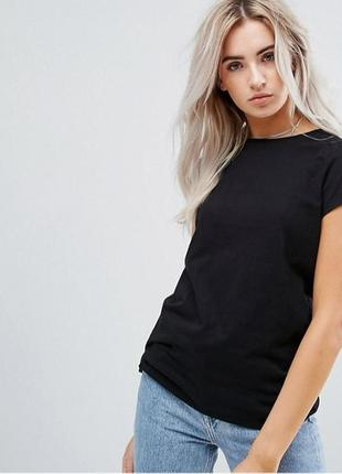 Чёрная базовая однотонная футболка 100% хлопок размеры