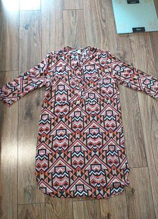 Платье - рубашка, сукня h&m 38 р, s-m