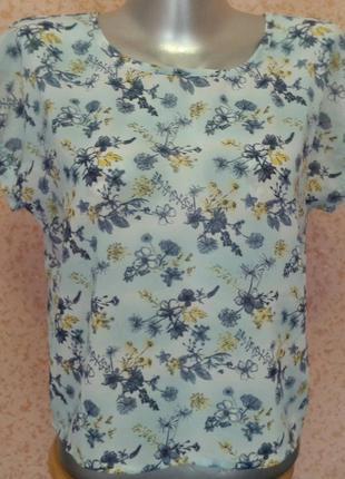 Блуза в цветочный принт,топ.