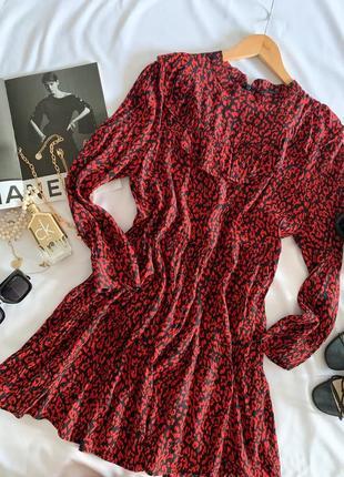 Красивое платье с воланами zara р.l