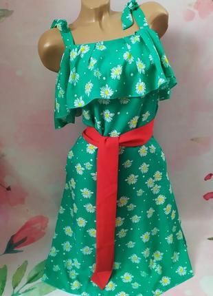 Красивое летнее платье с поясом