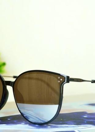 Черные зеркальные очки2 фото