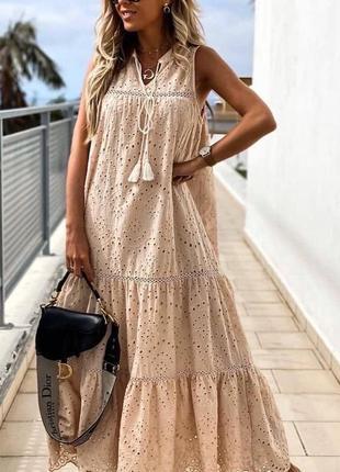 Плаття міді котон прошва турция 🇹🇷 сарафан