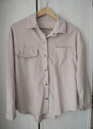 Крутая вельветовая рубашка в размере с-м
