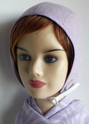 Шапка - шлем. женская. пальтовая шерсть. hand made.