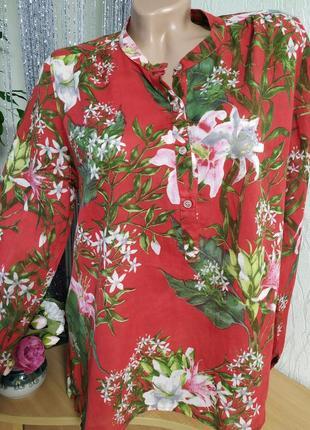 Яркая блуза в лилии,100%хлопок, индия,м,л