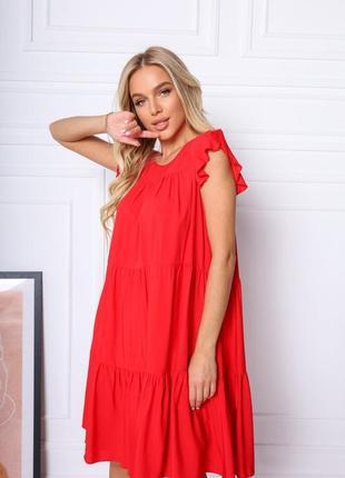 Женское лёгкое летнее платье свободного кроя