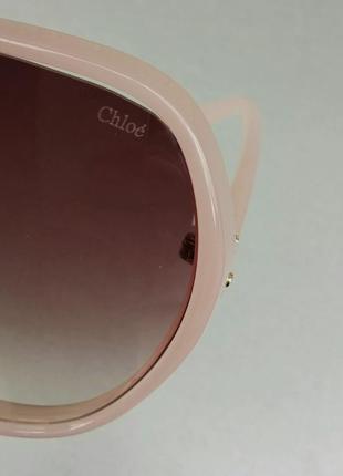 Chloe очки женские солнцезащитные очень большие нежно розовые с градиентом9 фото