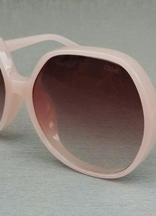 Chloe очки женские солнцезащитные очень большие нежно розовые с градиентом