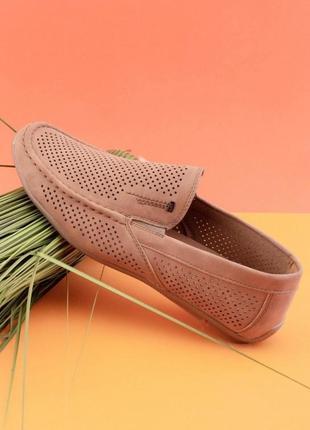 Мужские бежевые туфли из эко-кожи