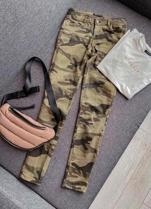 Камо джинсы cropp камуфляжные