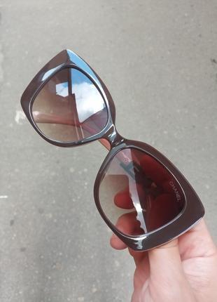 Стильные крупные очки оправа цвета кофе с молоком италия10 фото
